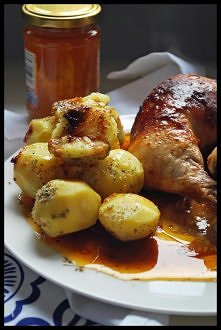 Ćwiartka z kurczaka z miodem i  musztardą