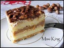 Ciasto Maxi King  Składniki (na blachę 23x37):  ok. 400 g herbatników 1 puszk...