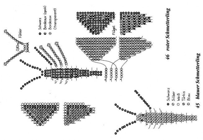 motyl z koralików