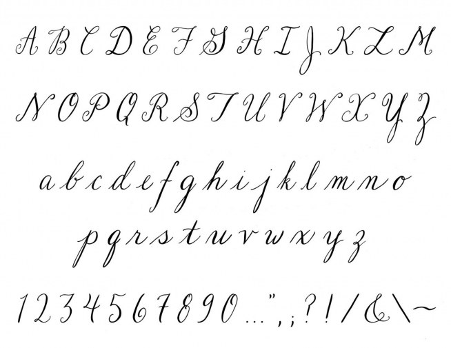 beautiful cursive handwriting fonts kaligrafia na printy zszywka pl 9683
