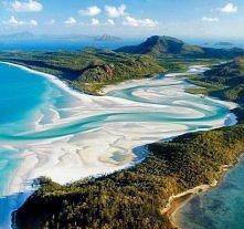 Plaża białe niebo w Australii