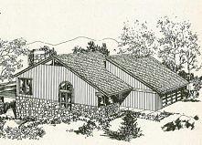 Plan typowego domu amerykańskiego z lat 80. Dowiedz się więcej na moim blogu ...