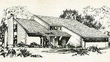 Katalog domów typowych z lat 80 Ameryki przedstawia wiele ciekawych planów i ...