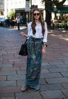 sukienka maxi jako spódnica