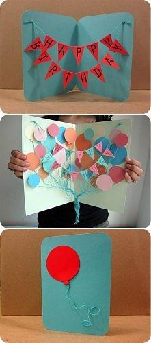 pomysł na kartkę urodzinową :)
