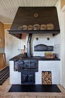 kuchnia kaflowa! moje Babcie takie miały, moja Ciocia ciągle ma i nie wyobraża sobie gotowania na gazie ;) a zimą oparcie się plecami o ciepłe kafle - bezcenne! :)
