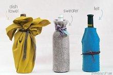 pokrowce na wino ze starych materiałów