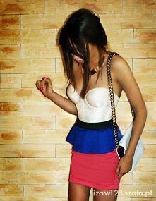 Różowo-niebieska spódniczka...