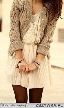 Sukienka , sweterek <3