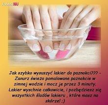Jak szybko wysuszyć lakier do paznokci