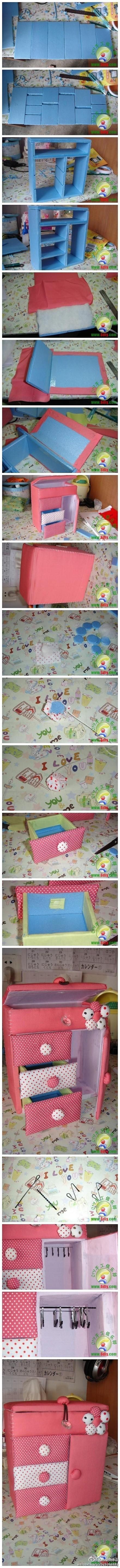 diy, cute, toy, dresser, tutorial, handmade