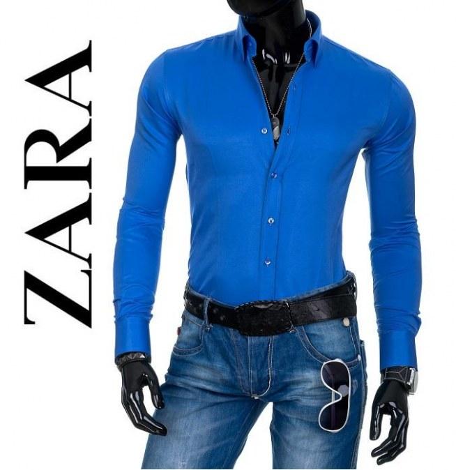 koszula niebieska zara