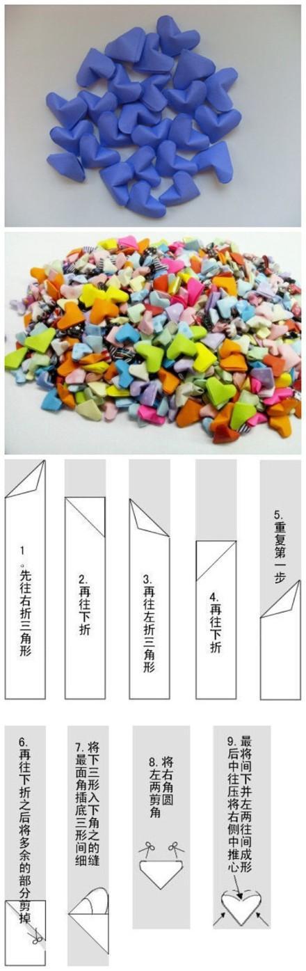 Serduszka origami... Krok po kroku ♥