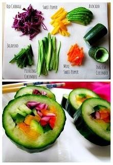 ogórkowe sushi