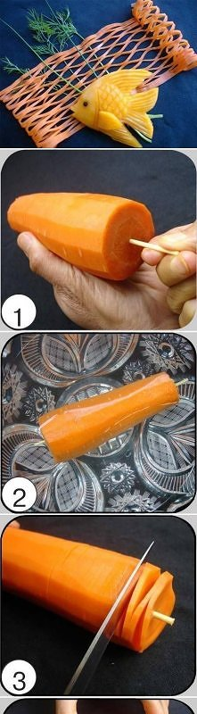 diy, carrot, fish, net, tut...