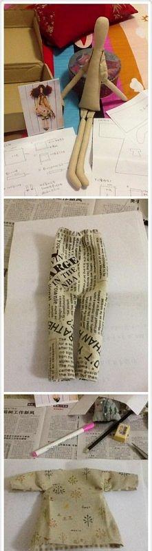 Jak zrobić, uszyć lalkę- tildę. Krok po kroku ♥ DIY