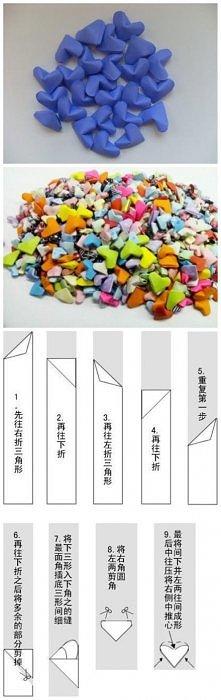 Serduszka origami... Krok p...