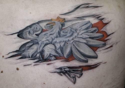 Orzełek W 3d Na Tatuaże Zszywkapl