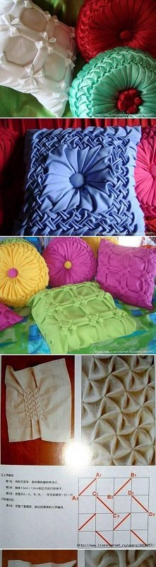 diy, pillow, idea, scheme, ...