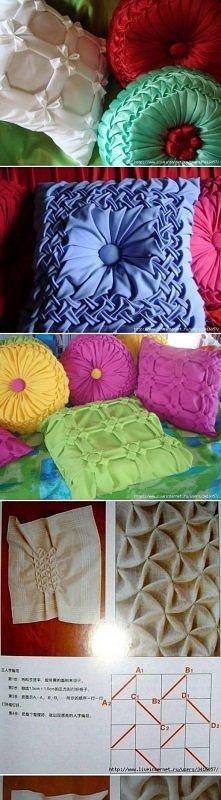 diy, pillow, idea, scheme, tutorial