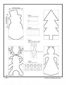 Potrzebne: Wydrukowany lub narysowany wzór Nożyczki  Jak zrobić? Złóż papier ...