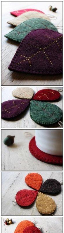 Hand made_felt drip mat