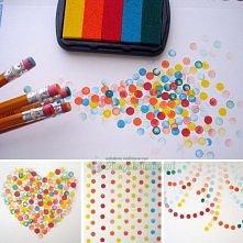 Potrzebne:  Gąbka Kolorowe farbki Ołówki z gumkami Nożyk Kartka Wykonanie:  W...