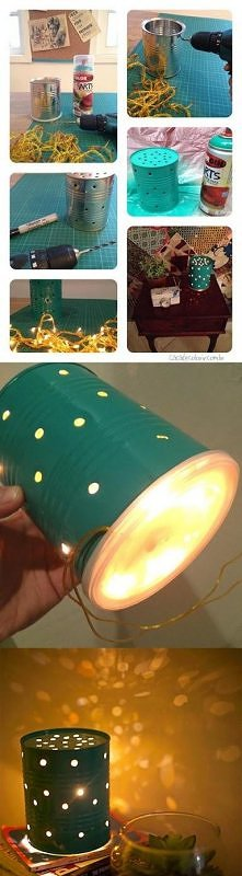 Lampka z puszki  Potrzebne:...