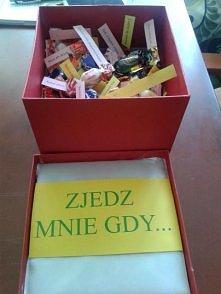 Zjedz mnie gdy.... Pudełko z cukierkami