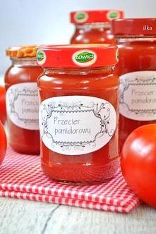 Przecier pomidorowy do słoika,,,ok.2,5 kg pomidorów sól, pieprz  Pomidory umy...