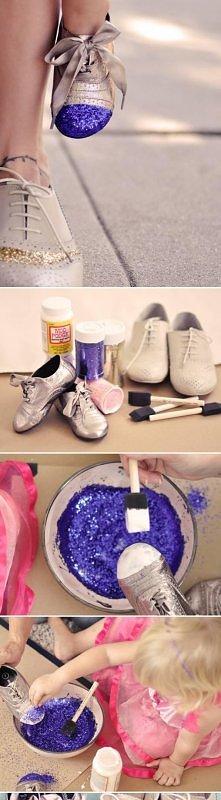 diy, glitter, shoes, tutori...