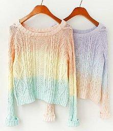 pastelowe sweterki