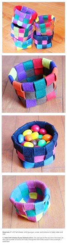 DIY - How to make felt basket