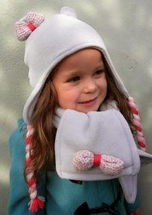 Komplet na jesień i zimę z polaru dla dzieci diy.