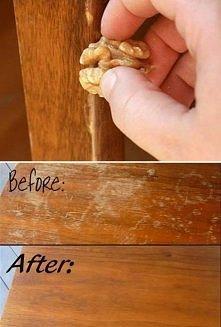 sposób na zarysowane meble