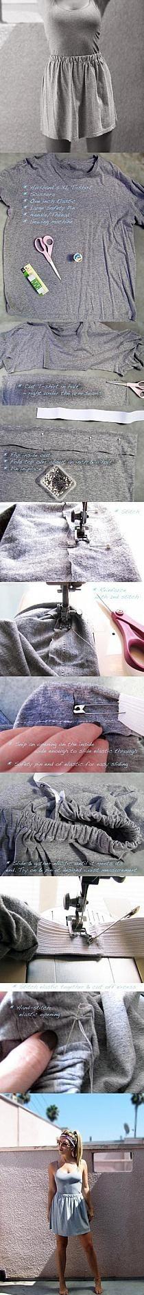 spódnica z koszulki