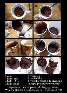 Szybkie ciasto w kubku