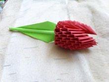 modular origami, flower, tulip