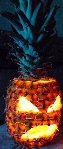 Halloween dynia z ananasa :)