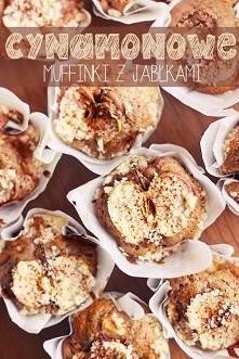 Muffinki cynamonowe z jabłkami