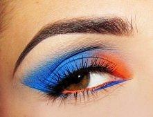 błękit i pomarańcz zgrany duet