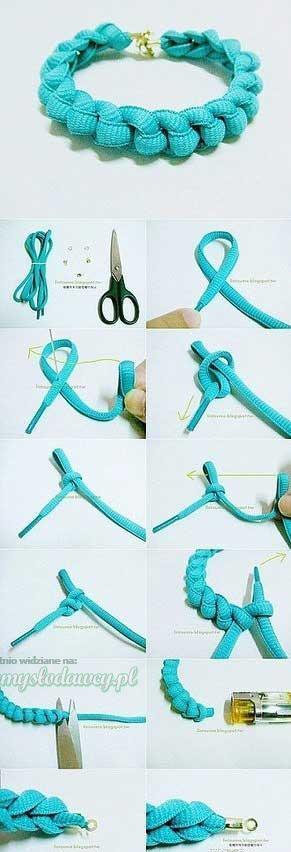bransoletka ze sznurówki