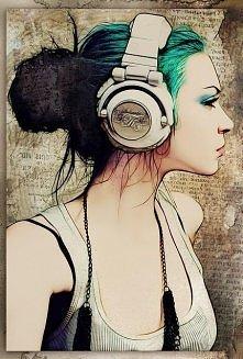 W słuchawkach