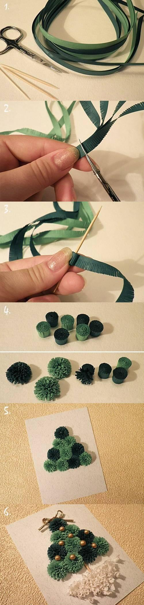 christmas tree, quilled, tutorial