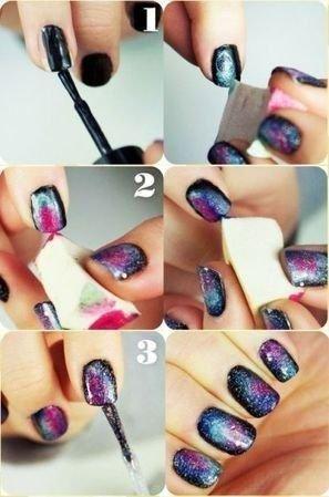 Jak zrobić paznokcie galaxy ;)