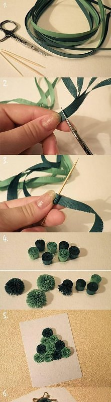 diy, christmas tree, quilled, tutorial