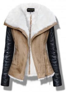 Kożuszek Ramoneska i skórzane rękawy.. na Mój styl moda