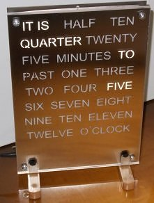 Word Clock with stands...