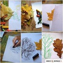 Jesienne liście - rysunek