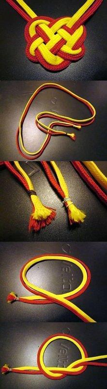 diy, dual color, heart knot...